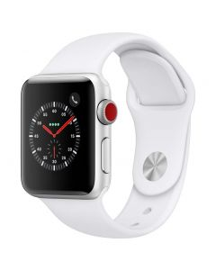 Apple Watch Series 3 Cellular 38mm Silver Alu White Band 2018