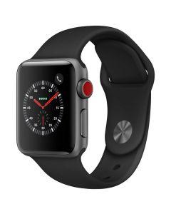 Apple Watch Series 3 Cellular 38mm Grey Alu Black Band 2018