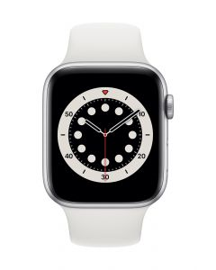 Apple Watch Series 6 44mm Silver Alu White Band