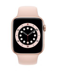 Apple Watch Series 6 44mm Gold Alu Pink Sand Band