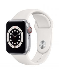 Apple Watch Series 6 Cellular 40mm Silver Alu White Band