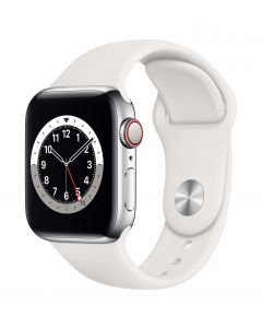 Apple Watch Series 6 Cellular 40mm Silver Steel White Band