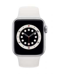 Apple Watch Series 6 40mm Silver Alu White Band