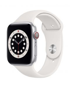 Apple Watch Series 6 Cellular 44mm Silver Alu White Band