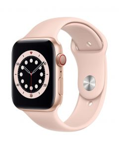 Apple Watch Series 6 Cellular 44mm Gold Alu Pink Sand Band
