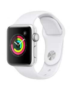 Apple Watch Series 3 38mm Silver Alu White Band 2018