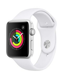 Apple Watch Series 3 42mm Silver Alu White Band 2018