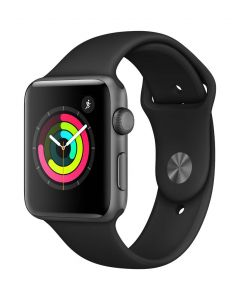 Apple Watch Series 3 42mm Grey Alu Black Band 2018