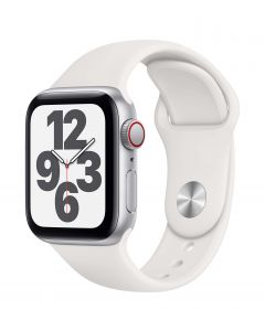 Apple Watch SE Cellular 40mm Silver Alu White Band