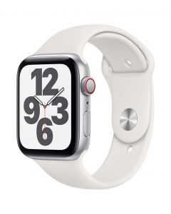 Apple Watch SE Cellular 44mm Silver Alu White Band