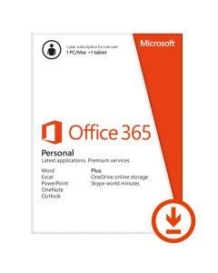 Microsoft Office 365 Personal 1 Year Mac/Win/iOS