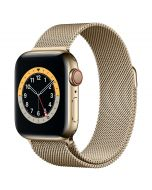 Apple Watch Series 6 Cellular 40mm Gold Steel Gold Milanese Loop
