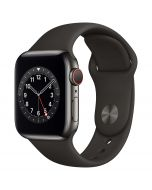 Apple Watch Series 6 Cellular 40mm Graphite Steel Black Band