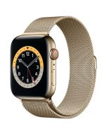 Apple Watch Series 6 Cellular 44mm Gold Steel Gold Milanese Loop