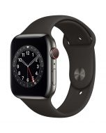 Apple Watch Series 6 Cellular 44mm Graphite Steel Black Band