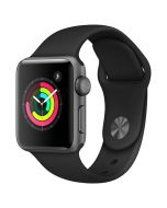 Apple Watch Series 3 38mm Grey Alu with Black Band 2018
