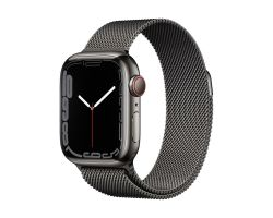 Apple Watch Series 7 Cellular in Graphite Steel with Graphite Milanese Loop