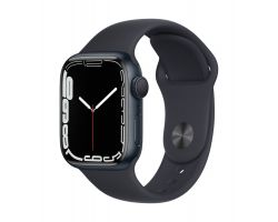 Apple Watch Series 7 in Midnight with Midnight Band