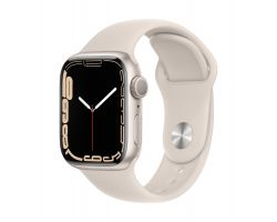Apple Watch Series 7 in Starlight with Starlight Band