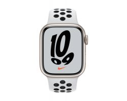 Apple Watch Nike Series 7 in Starlight with Platinum/Black Nike Band