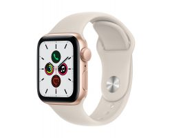 Apple Watch SE in Gold with Sport Band