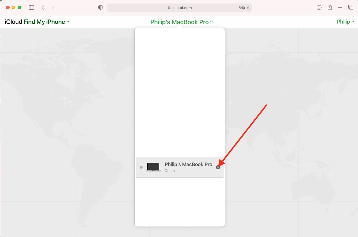 Find My iPhone via the web