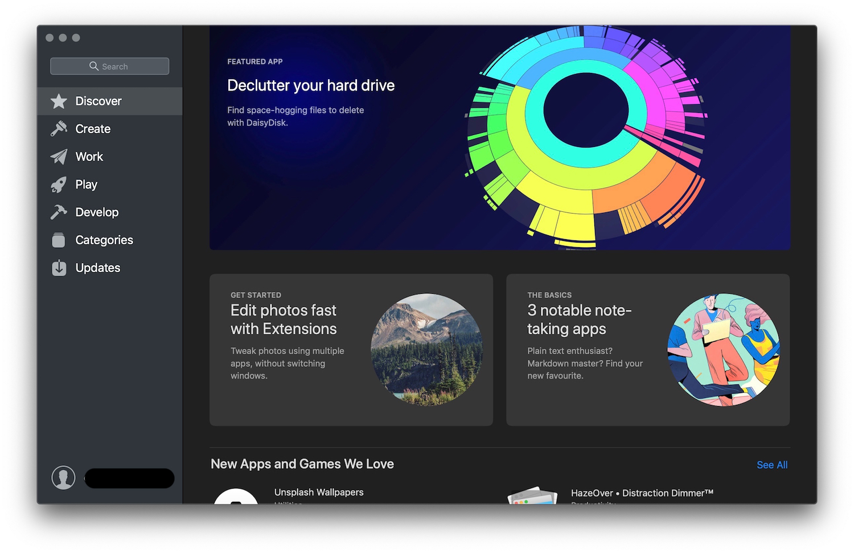 Mac App Store Home