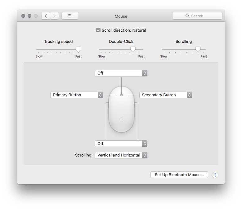 Mouse Preferences