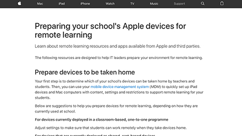Guide to preparing devices for remote learning