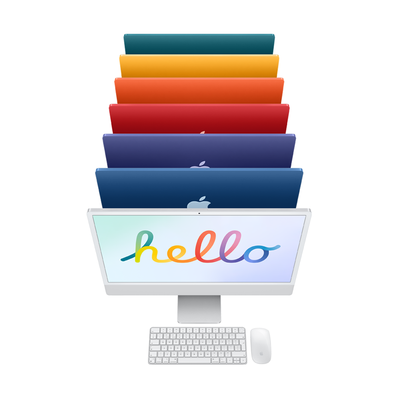 Say Hello to the NEW 24-inch iMac with 4.5K Retina display, available with monthly payments from Klarna finance