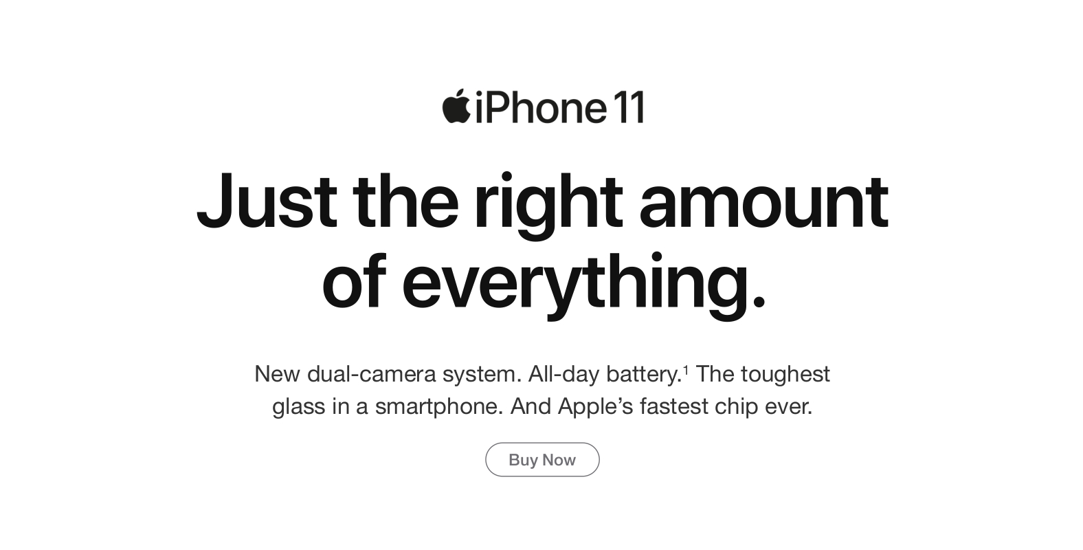 iPhone 11. Just the right amount of everything.
