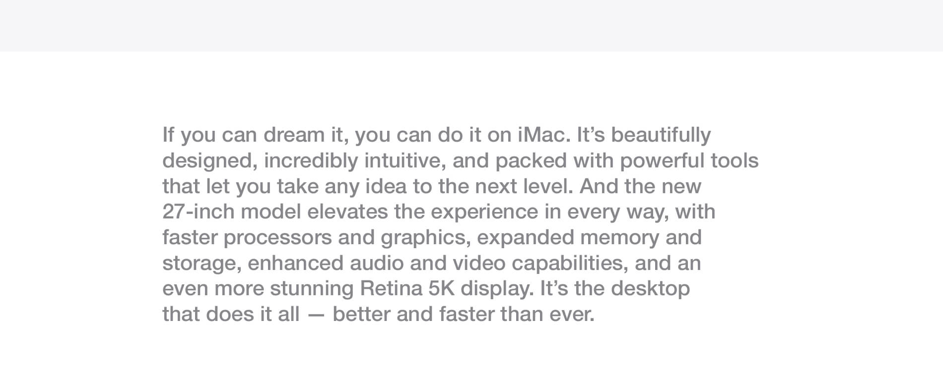 iMac. The all-in-one for all