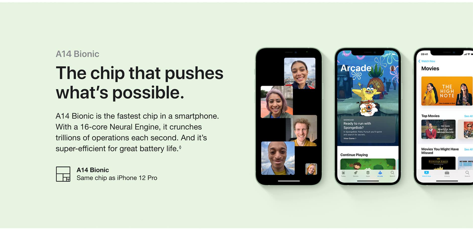 iPhone 12. Blast past fast.