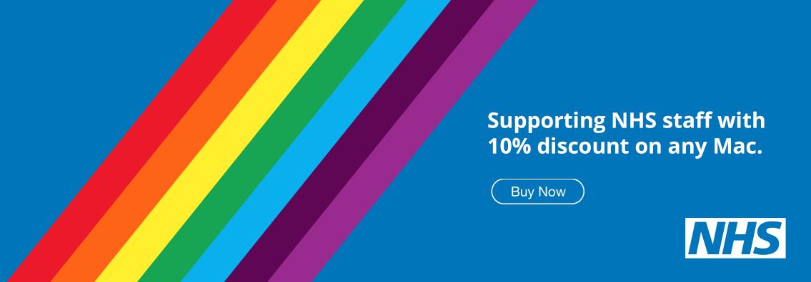 NHS staff save 10% on any Mac. #ThankYouNHS